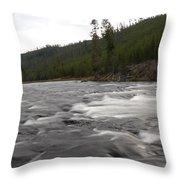 Firehole River Throw Pillow