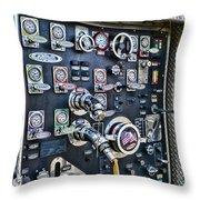 Fireman Control Panel Throw Pillow