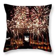 Fireworks At Kauffman Stadium Throw Pillow