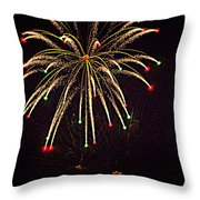 Fireworks In Neon Throw Pillow