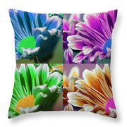Firmenish Bicolor Pop Art Shades Throw Pillow