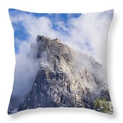 First Snow Of The Season In Yosemite Throw Pillow
