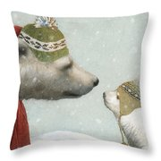 First Winter Throw Pillow by Eric Fan