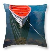 Fisherman's Boat Throw Pillow