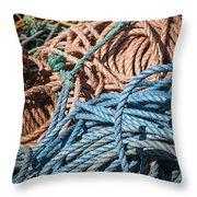 Fishing Ropes Throw Pillow