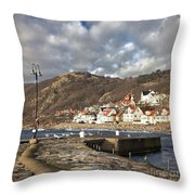 Fishing Village Of Molle In Sweden Throw Pillow