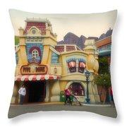 Five And Dime Disneyland Toontown Signage Throw Pillow