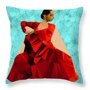 Flamenco Dancer In Spain Throw Pillow