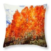 Flaming Aspens 2 Throw Pillow