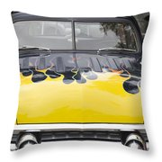 Flaming Ford Throw Pillow