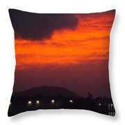 Flaming Sunrise II Throw Pillow