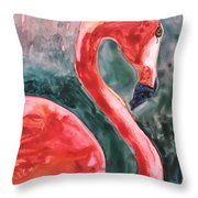 Flamingo Icon Throw Pillow