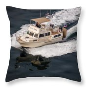 Fleming Yacht's Corvette Throw Pillow