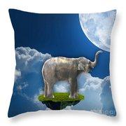 Flight Of The Elephant Throw Pillow