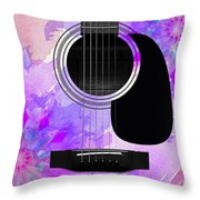 Floral Abstract Guitar 17 Throw Pillow
