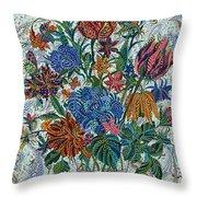 Floral Arrangement Throw Pillow