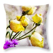 Floral Art Iv Throw Pillow