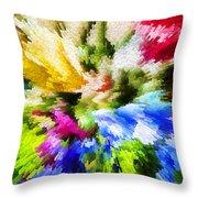 Floral Art X Throw Pillow