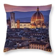 Florence Duomo Throw Pillow by Brian Jannsen