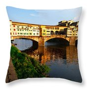 Florence Italy Ponte Vecchio Throw Pillow