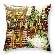 Florence Market Throw Pillow