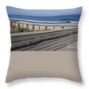 Florida At Melbourne Beach Throw Pillow