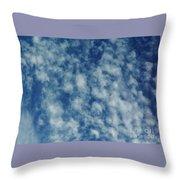 Florida Clouds Above Throw Pillow