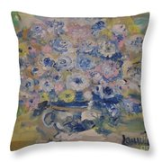 Flow Bleu Throw Pillow