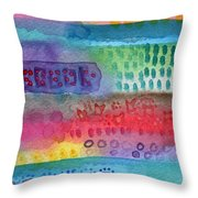 Flower Garden Throw Pillow by Linda Woods