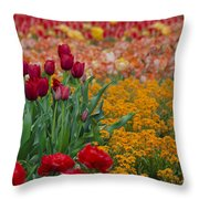 Flowers Everywhere Throw Pillow
