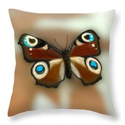 Fly Butterfly Throw Pillow