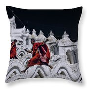 Flying Monks 2 Throw Pillow