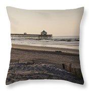 Folly Beach Morning Throw Pillow