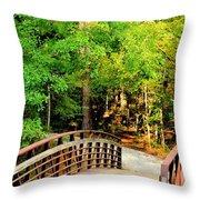 Folsom Bridge At Furnace Creek Throw Pillow