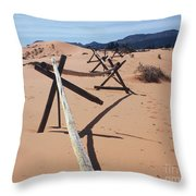 Footprints In Sand Throw Pillow