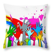 1 For All - All For 1 Throw Pillow