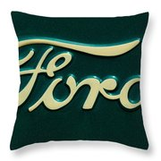 Ford Emblem Throw Pillow