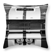 Ford Mustang Grille Emblem Throw Pillow