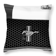 Ford Mustang Gt 350 Grille Emblem Throw Pillow