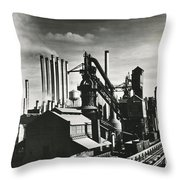 Ford's River Rouge Plant Throw Pillow