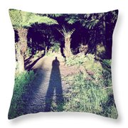 Forest Shadow Throw Pillow