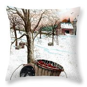Forgotten Apples Throw Pillow