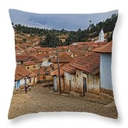 forgotten village Totora Throw Pillow
