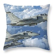 Formation Of Italian Air Force Amx-acol Throw Pillow