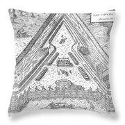 Fort Caroline, 1564 Throw Pillow