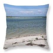 Fort Desoto Beach Throw Pillow