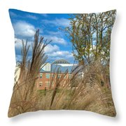 Founders Hall Through The Grasses Throw Pillow