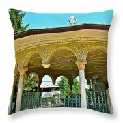 Fountain For Doing Ablutions In Konya-turkey  Throw Pillow