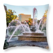 Fountain In The Pink Throw Pillow