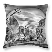 Fountain Of The Gods Throw Pillow